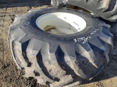 USED 30.5x32 Goodyear Dynatorque II tire. Bias, 14 ply, tubeless, traction tread, 8/10, tire only (rim extra). Small cut in sidewall.