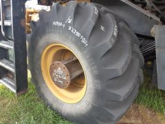 USED 800/65R32 Firestone Radial All Traction DT tire. Radial, 172A8 rating, traction tread, LHS, 8/10. Tire only.