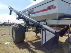 """Loading auger off a Bourgault 5350 air cart. Complete, 8"""" diameter, 20' long, no cracks or welds, 7/10."""