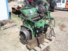 John Deere 13.5L used combine engine for sale. 6cyl, 440Hp, 2503 hrs, turbo. From a JD 9870 STS combine.