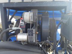 Dual fan for New Holland P1060 air carts and Case IH & Flexi-Coil equivalents. Excellent condition, no leaks, no cracks.
