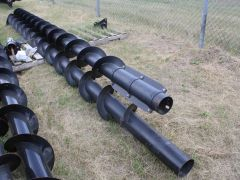 Used factory MacDon pea auger for 35' headers. Sold complete.