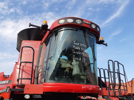 Complete cab off a Case IH 8120 combine. Overall 8/10 condition.