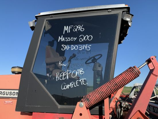 Complete cab for Massey Ferguson 200 swather. Sold with one year warranty.