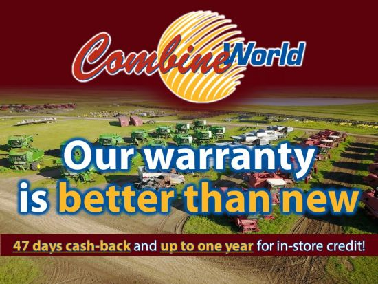 Combine World: Our warranty is better than new. 47 days cash back and up to one year for in-store credit!