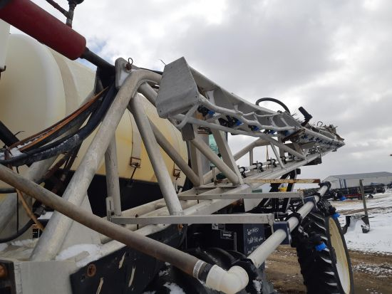 Aluminum booms off a Willmar 8100 sprayer. 120' total. Price is per side. Individual sections also sold separately.
